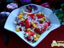 Sałatka z kaszy i warzyw z majonezem