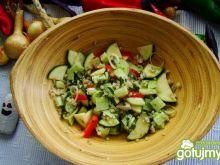 Sałatka z kaszy z warzywami