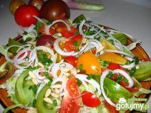 Sałatka z kolorowych pomidorów 3
