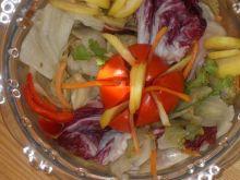 Sałatka z kolorowych sałat