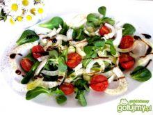 Sałatka z  kopru włoskiego i roszponki