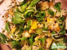 Sałatka z krewetkami i sosem Dark Tahini