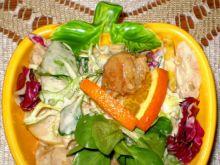 Sałatka z kurczaka Gyros z gruszkami :