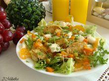 Sałatka z kurczakiem i mandarynkami