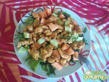 Sałatka z kurczakiem i melonem