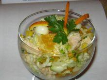 Sałatka z kurczakiem i pomarańczem