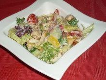 Sałatka z kurczakiem w sosie szczypiorkowym
