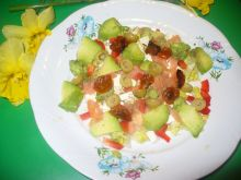 Sałatka z łososiem i tofu