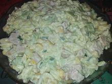 Sałatka z makaronem ryżowym wg Gosi