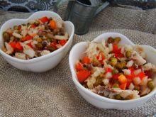 Sałatka z makreli i fasoli mung