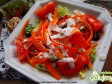 Sałatka z marchewki z sosem