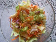 Sałatka z marchewkowymi wstążkami
