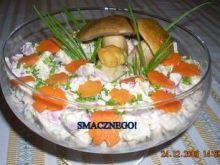 Sałatka z marynowanymi grzybkami