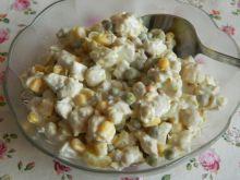 Sałatka z mini kolbami kukurydzy