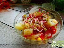 Sałatka z młodych ziemniaków z kiełkami
