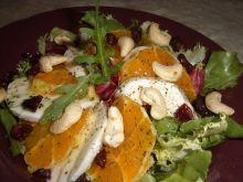 Sałatka z mozzarellą i pomarańczą