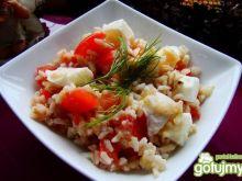 Sałatka z mozzarelli ,jajka i ryżu