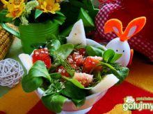 Sałatka z nashi i otrębami owsianymi