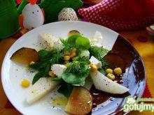Sałatka z nashi i śliwką