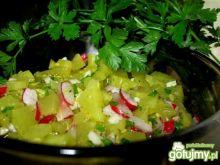 Sałatka z ogórkami curry