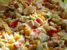 Salatka z paluszkami krabowymi I