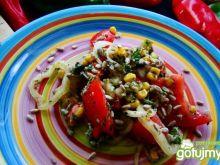 Sałatka z papryki ,kukurydzy z słoneczni