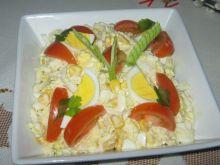 Sałatka  z pekinki z kukurydzą