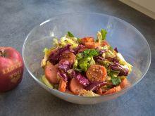 Sałatka z pieczoną marchewką i mozzarellą
