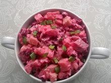 Sałatka z pieczonych warzyw z matiasem