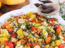 Sałatka z pieczonych warzyw z topinamburem