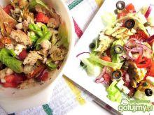 Sałatka  z pieczonym dorszem i warzywami