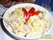Sałatka z piersi kurczaka i fasolki