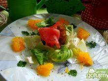 Sałatka z pomarańczą i carpaccio