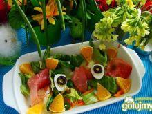 Sałatka z pomarańczą i jajkiem