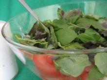 Sałatka z pomidorem, fetą i bazylią