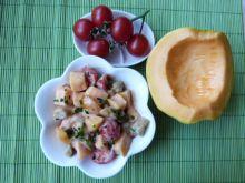 Sałatka z pomidorków i melona
