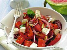 Sałatka z pomidorów i arbuza
