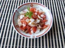 Sałatka z pomidorów i bakłażana