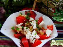 Sałatka z pomidorów ,makaronu i fety