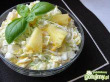 Sałatka z pora i ananasa