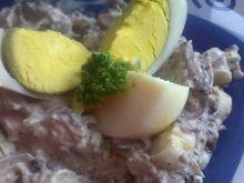 Sałatka z pora i jajka