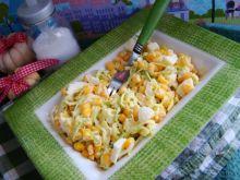 Sałatka z pora i kukurydzy