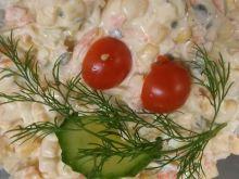 Sałatka z pora, jajek i kukurydzy