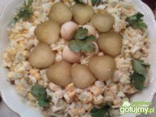 Sałatka z porem i kukurydzą 3