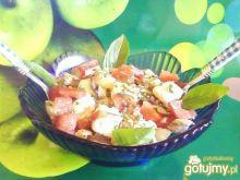 Sałatka  z prażoną cebulą.