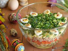 Sałatka z przepiórczymi jajkami