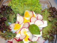 Sałatka z rukolą, rzodkiewką i jajkiem