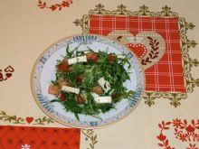 Sałatka z rukolą i mozzarellą