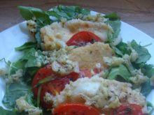 Sałatka z rukoli i smażonej mozzarelli