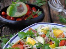 Sałatka z rukoli, tuńczyka i awokado